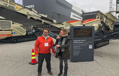 Launch of Lokotrack® ST2.3™ mobile screen at Bauma 2019