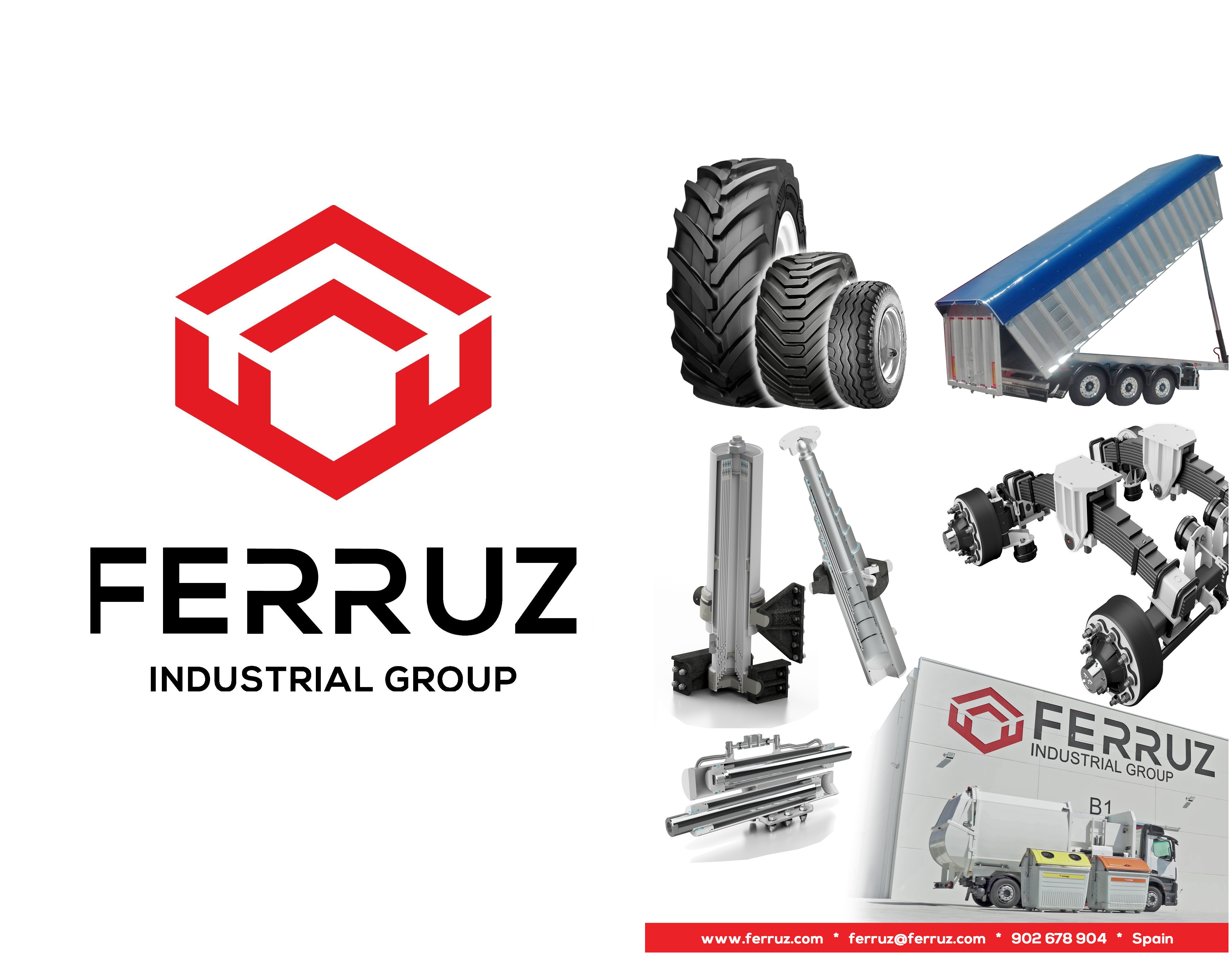 Industrial Ferruz Group,  leader company in the manufacture of cylinders, hydraulic components, running axles and suspensions for agricultural and industrial machinery