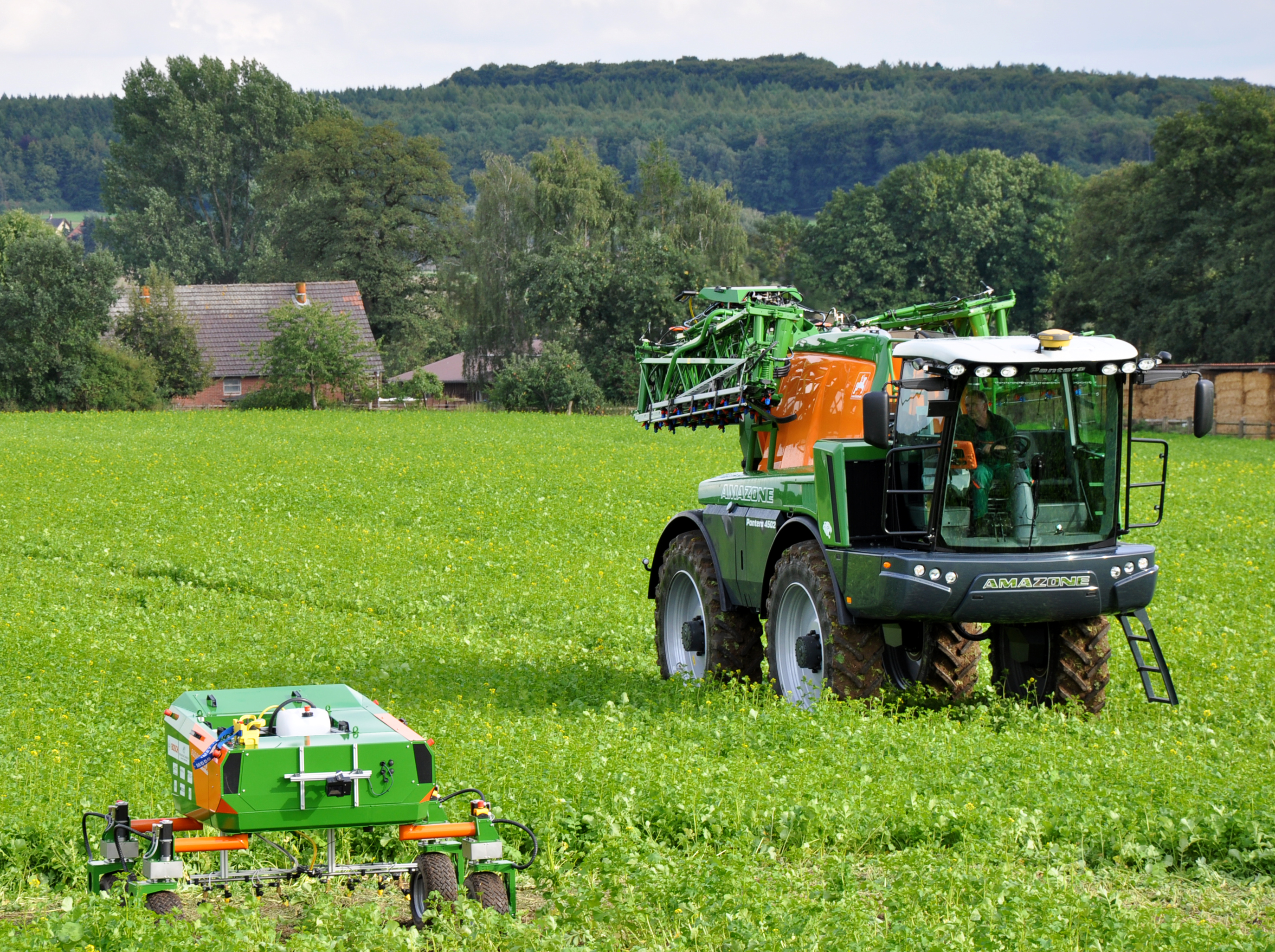 Based on innovative agricultural technology, the Agri-Gaia project explores the use of AI in agriculture. Copyright: Hochschule Osnabrück