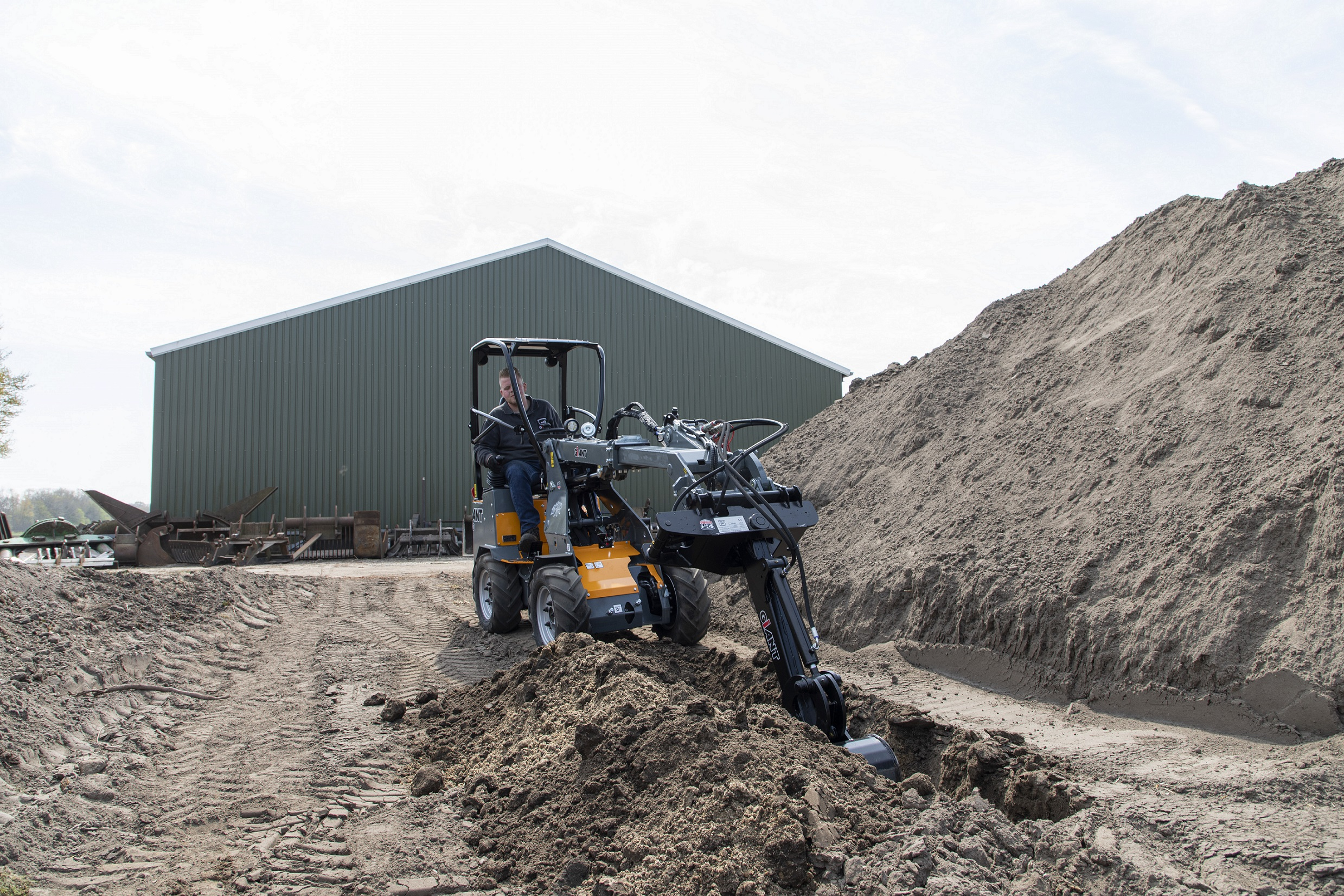 Just do a little digging in between... With the help of the right attachments a lot of different tasks can be performed with just one machine.