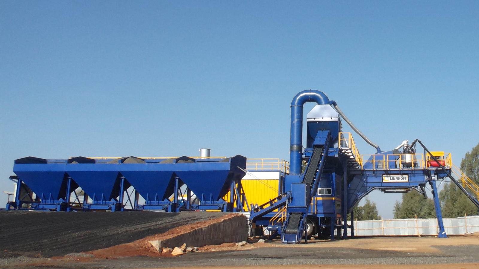 Linnhoff TSD 1500 MobileMix asphalt plants, a popular choice for road contractors in Ethiopia
