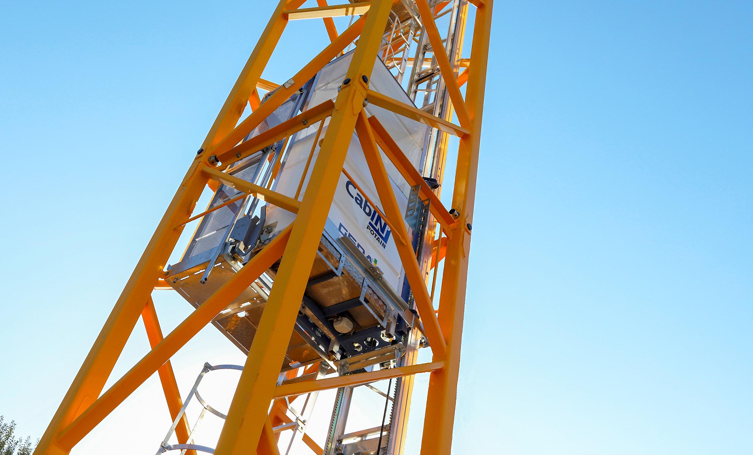 new Cab-IN internal mast elevator