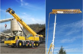 Grove GMK5150L-1 all-terrain crane. & Potain Hup 40-30 self-erecting crane.