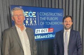 CECE President Niklas Nillroth (left) and CECE Secretary General Riccardo Viaggi (right) at the virtual CECE Summit 2021