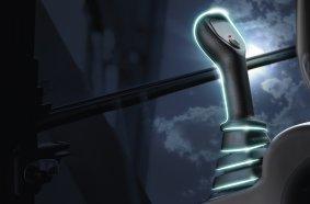 Volvo CE hat die Sicherheit im Griff mit dem innovativen Joystick mit Handsensor