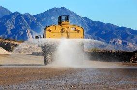 Cat 777G autonomous water truck