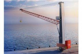 Konecranes Gottwald ESP 10 crane mounted on a pedestal