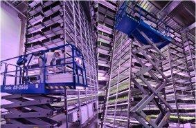 Nine Genie Scissor Lifts in Largest Vertical Farm Europe - Joma DK
