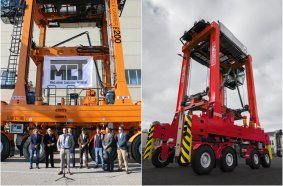 Kalmar delivered the 200th straddle carrier to MCT in January 2020 & Kalmar Straddle Carrier