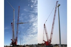 Manitowoc crawler cranes deliver strong performance to wind farm builder IEA Constructors