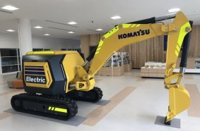 Fully electric mini excavator as the next-generation concept machine for the future