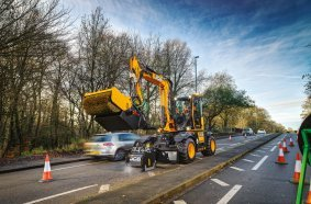 The JCB PotholePro at work in Stoke-on-Trent
