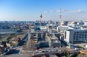 Three Potain cranes deployed for Symbiosis urban regeneration project in Milan, Italy
