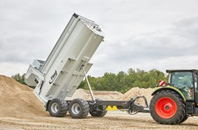 A true all-rounder in the field and on the road - the new Fliegl heavy-duty dump body TMK 266 S PROFI