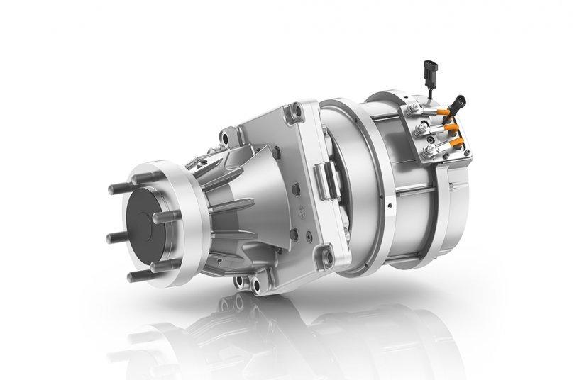 Das neu entwickelte eTRAC GP35 ist für Applikationen mit einer Hublast von bis zu 3,5 Tonnen ausgelegt. <br> Bildquelle: ZF Friedrichshafen AG