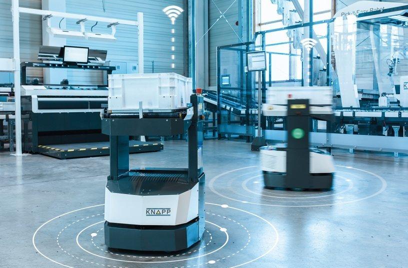 Digitale Technologien ermöglichen eine intelligente Vernetzung der Software mit dem logistischen System. <br> Bildquelle: ©KNAPP/Niederwieser