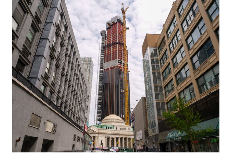 The tallest building in the Brooklyn skyline <br> Image source: Anmopyc