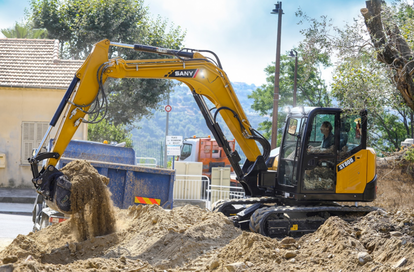 Powerful, economical, comfortable - the new 8t excavator from SANY (Image source: SANY)