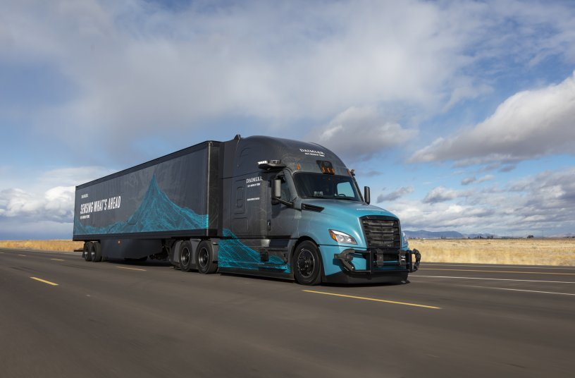 Mit Freightliner Cascadia erprobt Daimler Trucks autonomes Fahren (SAE-Level 4) in den USA.