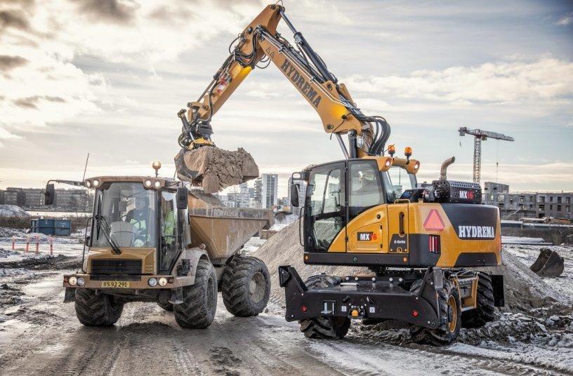 The new Hydrema MX wheeled excavators (Image source: Hydrema)