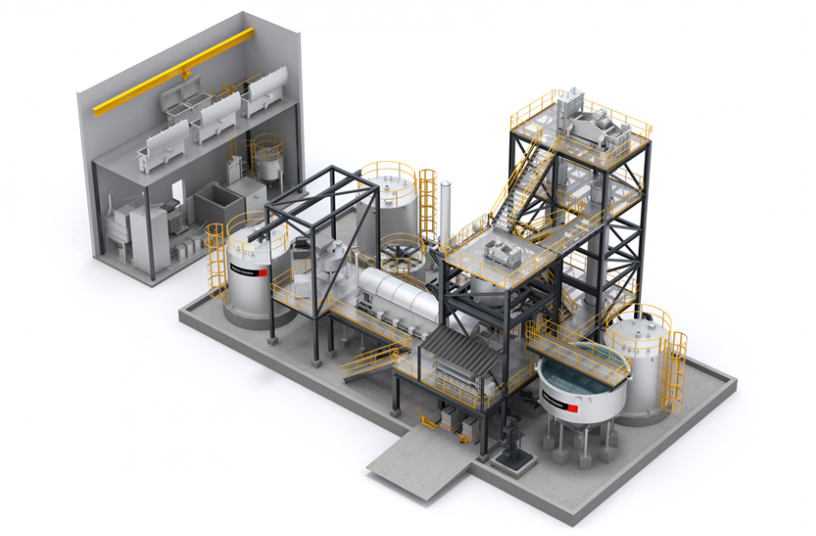 Metso Outotec Elution and Goldroom plant<br>IMAGE SOURCE: Metso Outotec Oy