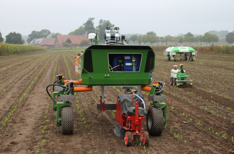 Based on innovative agricultural technology, the Agri-Gaia project explores the use of AI in agriculture. Copyright: Agrotech Valley |Experimentierfeld Agro-Nordwest