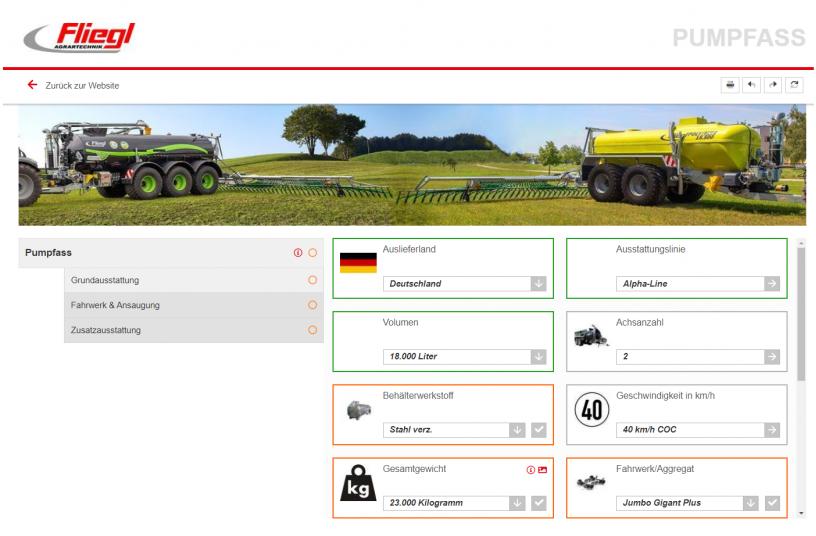 Konfigurator<br>Image source: Fliegl Agrartechnik GmbH