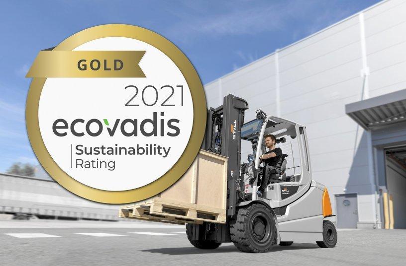 Goldstatus für den Hamburger Intralogistiker: Die STILL GmbH stellte sich auch in diesem Jahr wieder der Nachhaltigkeitsprüfung der internationalen Bewertungsplattform EcoVadis und erhielt nun das Zertifikat in Gold.<br> Bildquelle: STILL GmbH