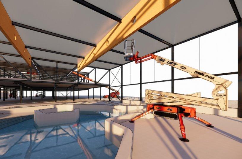 Riwal stell BIM-Dateien ausgewählter Maschinen Kunden zur Einbindung in virtuelle 3D- Baustellen-Modelle kostenlos zur Verfügung. © Riwal