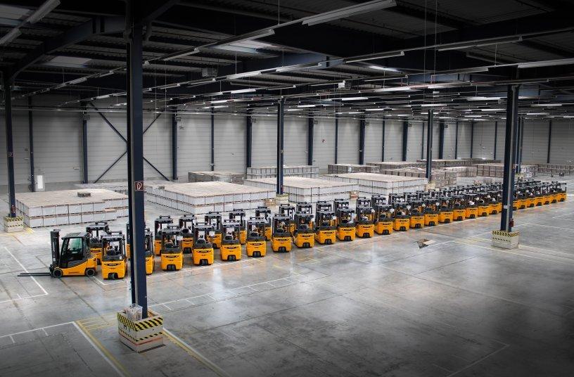 Jungheinrich-Flotte für BLG Logistics in Erfurt <br> Bildquelle: Jungheinrich AG