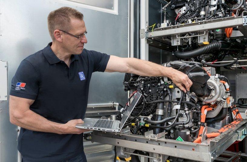 Brennstoffzelle Fuel Cell Demonstrator Rolls-Royce Power Systems<br>Bildquelle: Rolls-Royce Power Systems AG