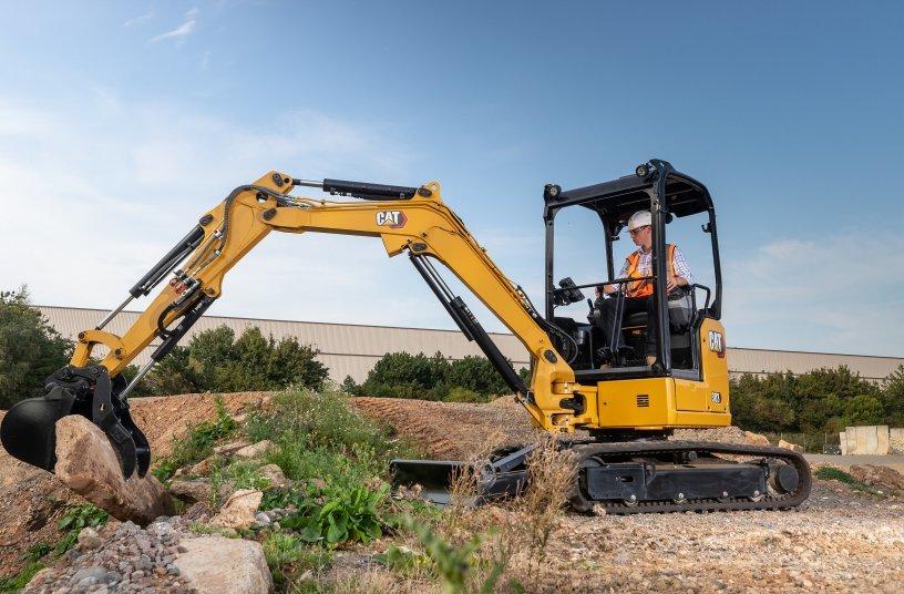 Cat 303 CR Mini Excavator<br>Image source: Caterpillar UK Ltd.