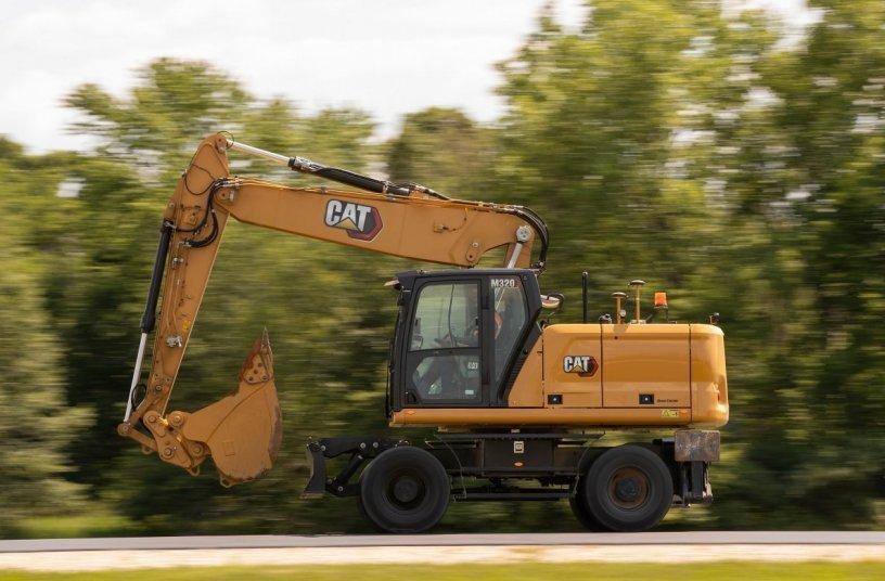new Cat® M320 wheeled excavator <br>Image source: Caterpillar UK Ltd.