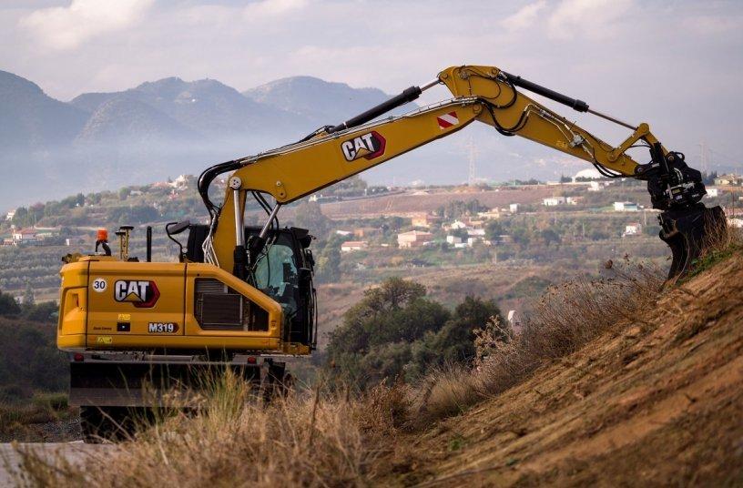 Cat® M319 wheeled excavator <br>Image source: Caterpillar UK Ltd.