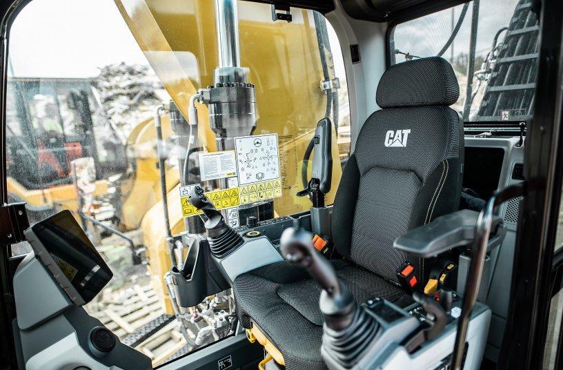 Fahrerkabine der Cat-Umschlagmaschine MH3026 <br> Bildquelle: Caterpillar UK Ltd.