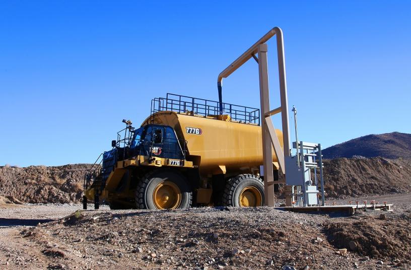 Cat® 777G Water Solutions truck<br>IMAGE SOURCE: Caterpillar UK Ltd.