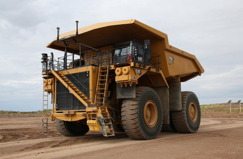 The Cat 794 AC Mining Truck is equipped with Cat® MineStar™ Command for hauling, an autonomous hauling solution.<br>IMAGE SOURCE: Caterpillar UK Ltd.