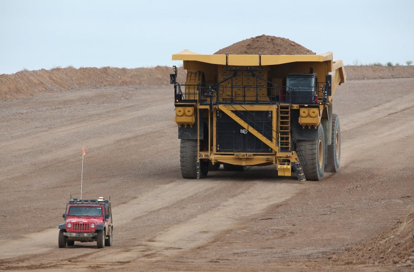 The Cat 794 AC Mining Truck is equipped with Cat® MineStar™ Command for hauling, an autonomous hauling solution. <br> Image source: Caterpillar UK Ltd.