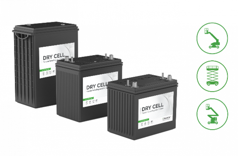 Discover Battery has introduced a range of DRY CELL batteries designed specifically for the powered access industry <br>IMAGE SOURCE: Discover Battery