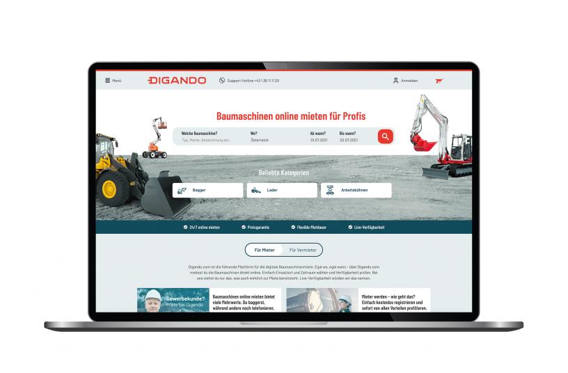 Die Website hat neue Funktionen und ein verbessertes Nutzererlebnis<br> Bildquelle: Digando GmbH