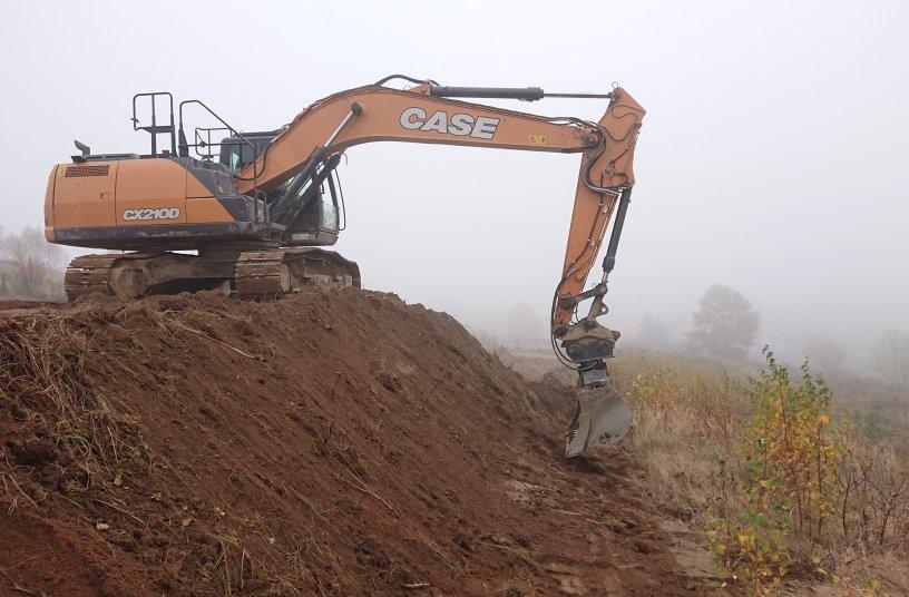 CASE Baumaschinen Flotte als operatives Rückgratim Salzbergwerk in Rumänien <br> Bildquelle: CASE Construction Equipment