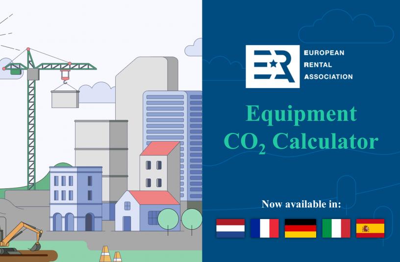 ERA Equipment CO2 Calculator translations<br>Image source: European Rental Association (ERA)