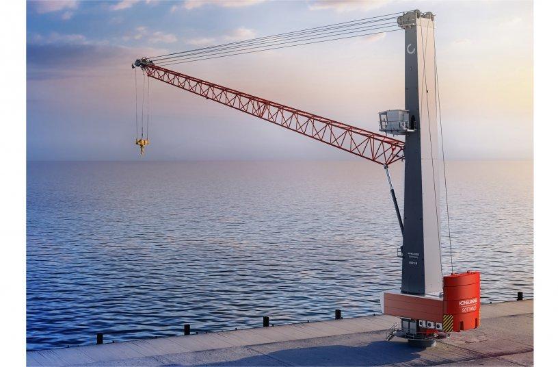 Konecranes Gottwald ESP 10 crane mounted on a pedestal<br>IMAGE SOURCE: Konecranes GmbH