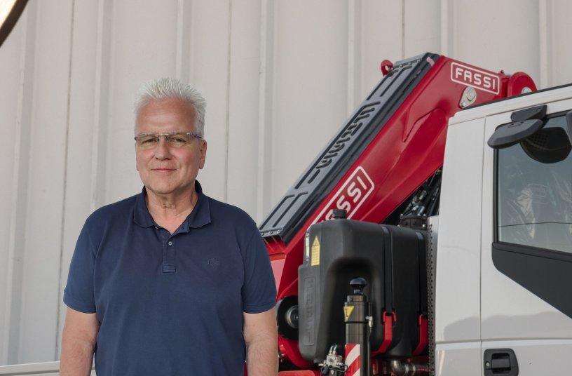 Wolfgang Feldman, Geschäftsführer Fassi Ladekrane  Deutschland.<br> Bildquelle: Fassi Ladekrane GmbH / Gründau