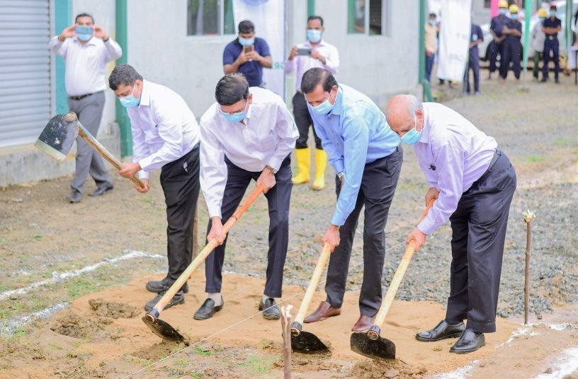 GRI CEO Dr Mahesha Ranasoma & Senior Team Breaking Ground