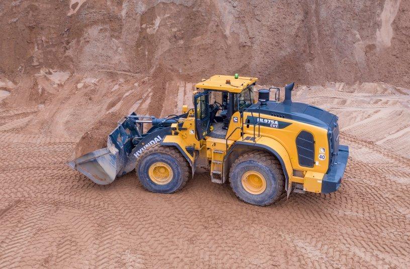 HL975AT Radlader <br> Bildquelle: TT-Communications; Hyundai Construction Equipment Europe