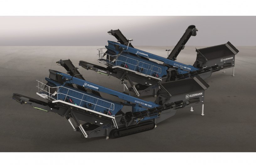 With an output of up to 750 tons an hour, the mobile screening plants MS 1202 and MS 1203 are highly productive.
