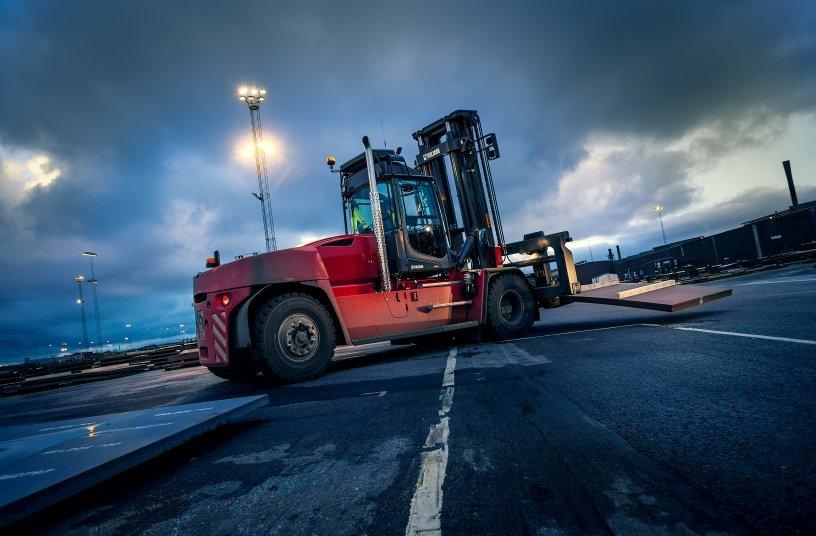 Kalmar Forklift<br>IMAGE SOURCE: Cargotec Corporation; Kalmar