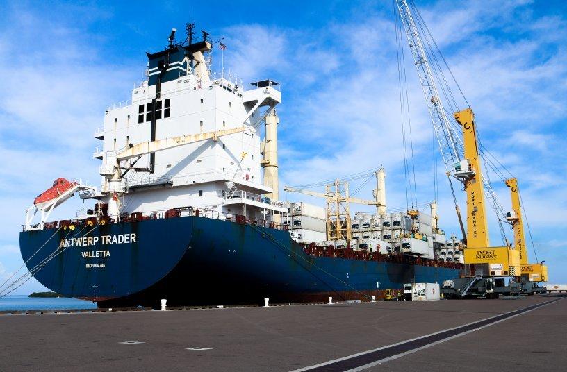 Konecranes Gottwald Mobile Harbor Cranes already in operation at LOGISTEC's terminal in Manatee, FL, USA<br>IMAGE SOURCE: Konecranes GmbH