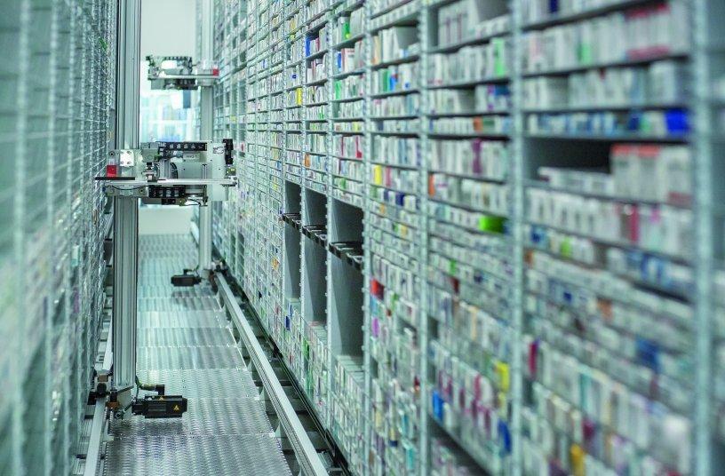 Der Kommissionierautomat KNAPP-Store ist Kerntechnologie in zukunftsweisenden B2C-Pharma-Lösungen<br>Bildquelle: © KNAPP AG